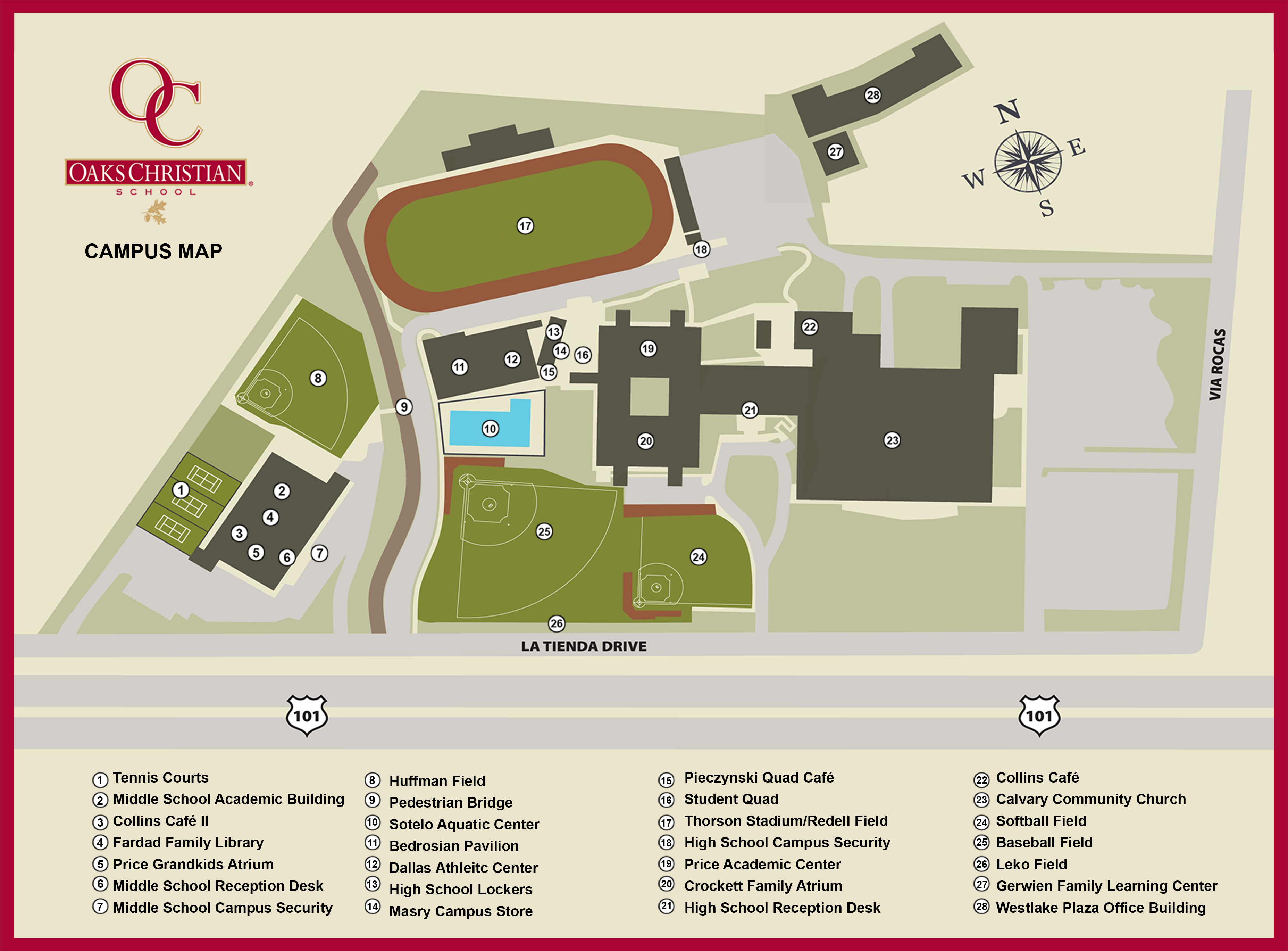 Oc Campus Map.Private School In Westlake Village Serving Ventura County Oaks